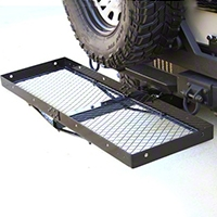Rugged Ridge Receiver Hitch With Cargo Rack (07-15 Wrangler JK) - Rugged Ridge 11580.20