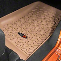 Rugged Ridge Front Floor Liners, Tan (07-13 Wrangler JK) - Rugged Ridge 13920.01