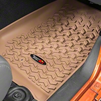 Rugged Ridge Floor Liner Kit, Tan (07-13 Wrangler JK 4 Door) - Rugged Ridge 13987.01