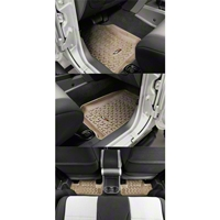 Rugged Ridge Four Piece Floor Liner Set, Tan (07-10 Wrangler JK 2 Door) - Rugged Ridge 13987.02
