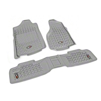 Rugged Ridge Floor Liner Kit, Gray (07-13 Wrangler JK 4 Door) - Rugged Ridge 14987.01