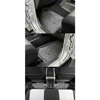 Rugged Ridge Four Piece Floor Liner Set, Gray (07-10 Wrangler JK 2 Door) - Rugged Ridge 14987.02