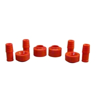 Rugged Ridge Coil Spring Spacer Kit, 1.75in. Red (97-06 Wrangler TJ) - Rugged Ridge 1-1705