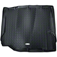 Rugged Ridge Cargo Liner, Tread Lightly, Black (07-10 Wrangler JK) - Rugged Ridge TL-12975.01