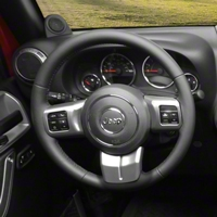 Rugged Ridge Steering Wheel Trim, Charcoal (11-13 Wrangler JK) - Rugged Ridge 11157.12