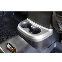 Rugged Ridge Center Cup Console, Brushed Silver, 2nd Row (11-13 Wrangler JK) - Rugged Ridge 11152.18