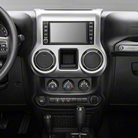 Rugged Ridge Center Radio Console, Brushed Silver (11-13 Wrangler JK) - Rugged Ridge 11152.24