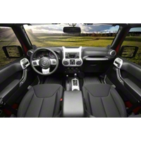Rugged Ridge Interior Trim Accent Kit, Brushed Silver, Automatic (11-13 Wrangler JK 4 Door) - Rugged Ridge 11152.96