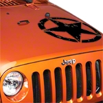 XT Graphics Oscar Mike Star Kit, Black (87-14 Wrangler YJ, TJ & JK) - XT Graphics J26027