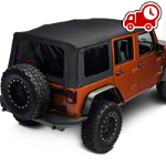 Barricade Replacement Soft Top w/ Tinted Windows, Black Diamond (07-09 Wrangler JK 4 Door) - Barricade J40001