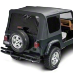 Barricade Replacement Soft Top w/ Tinted Windows & Door Skins, Black Diamond (87-95 Wrangler YJ) - Barricade J40005