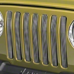 Red Rock 4x4 Polished Billet Grille Inserts (97-06 Wrangler TJ) - Red Rock 4x4 J40006||J40006