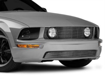 Modern Billet Pony Delete Billet Grille - Combo - Polished (05-09 GT)