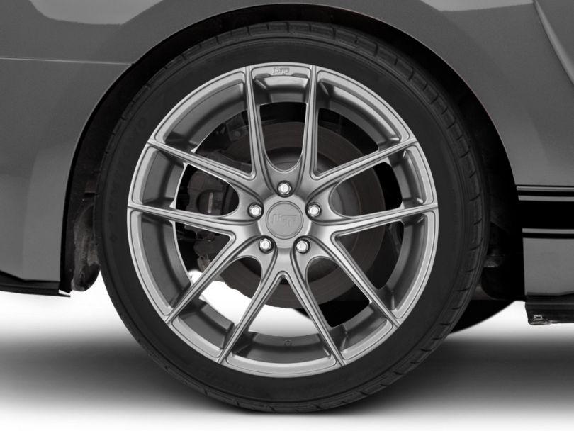 Niche Targa Matte Silver Wheel; Rear Only; 20x10 (15-20 GT, EcoBoost, V6)