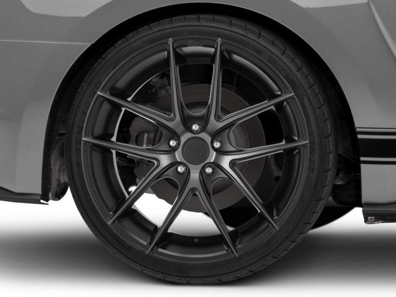 Niche Targa Matte Black Wheel; Rear Only; 20x10 (15-20 GT, EcoBoost, V6)