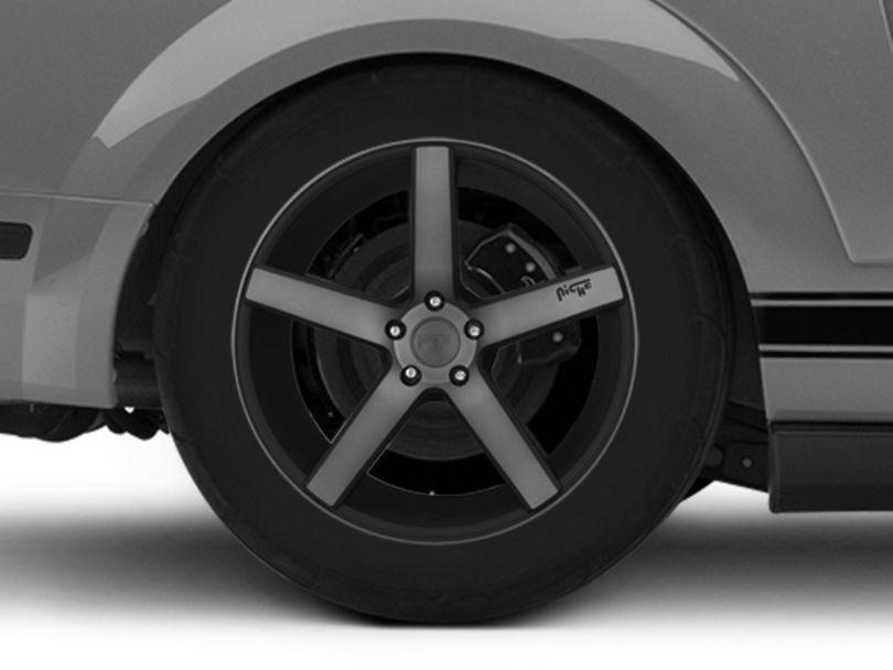 Niche Milan Matte Black Machined Wheel; Rear Only; 20x10 (05-09 All)