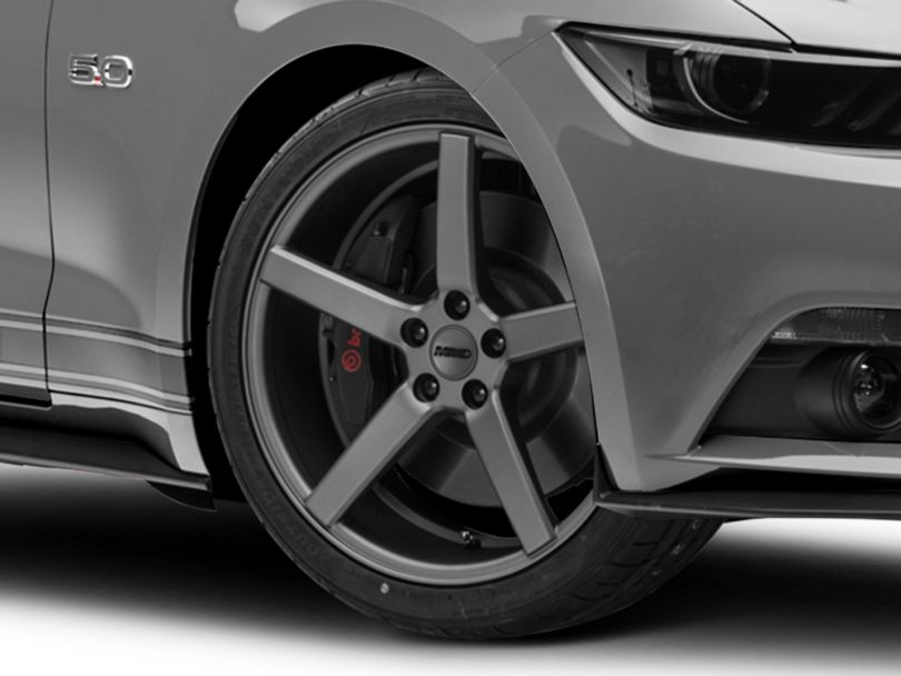 Staggered MMD 551C Charcoal 4 Wheel Kit; 20x8.5/10 (15-20 GT, EcoBoost, V6)