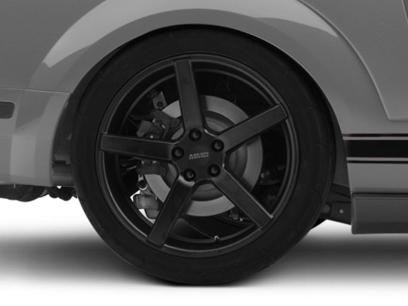 MMD 551C Matte Black Wheel; Rear Only; 20x10 (05-09 All)