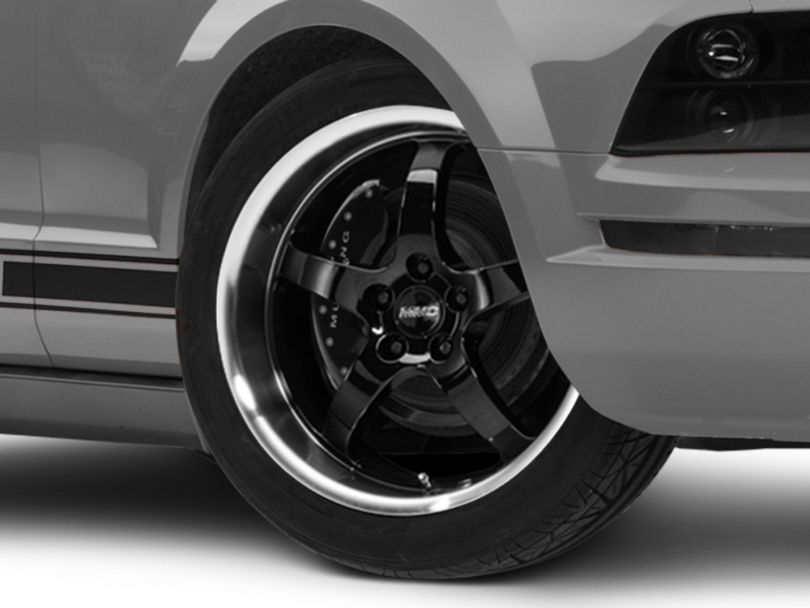 MMD Kage Black Wheel; 19x8.5 (05-09 GT, V6)