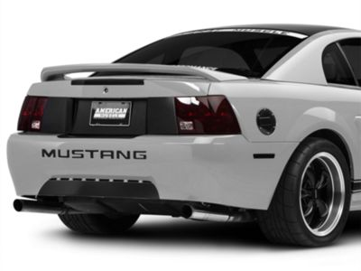 American Muscle Graphics Brushed Black Rear Decklid Blackout Decal (99-04 All)