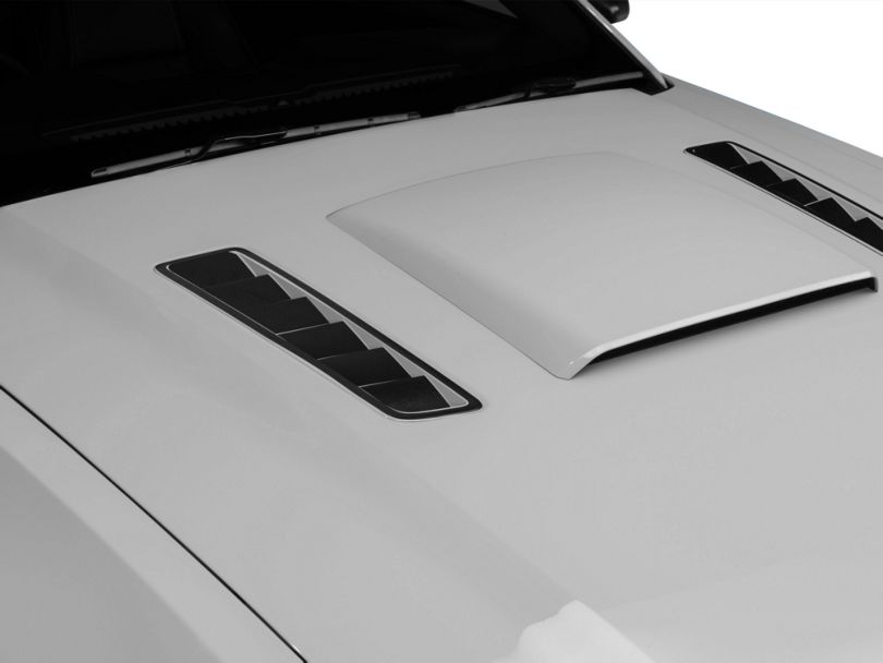 American Muscle Graphics Hood Vent Accent Decal - Brushed Black (13-14 All)