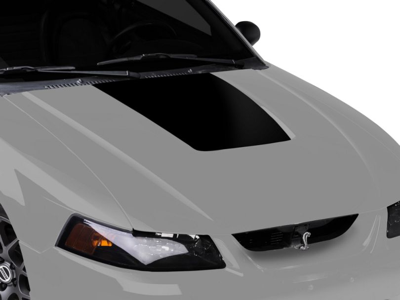 American Muscle Graphics Hood Accent Decal; Black (99-01 Cobra; 03-04 V6)