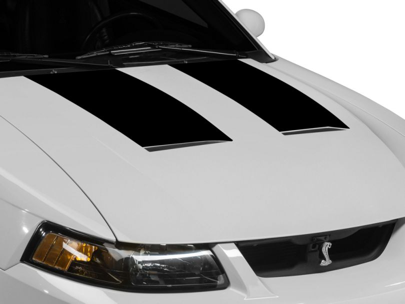 American Muscle Graphics Hood Accent Decal; Black (03-04 Cobra)