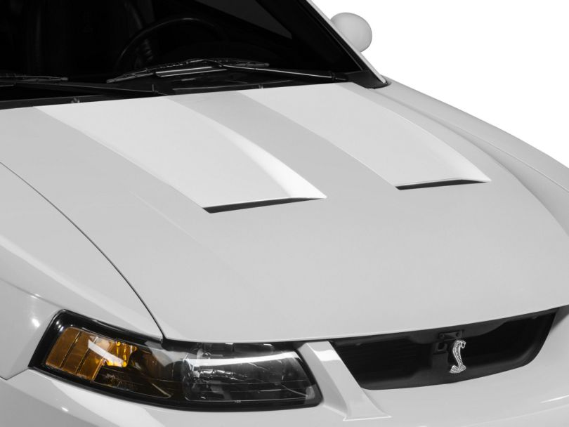 American Muscle Graphics Hood Decal; White (03-04 Cobra)