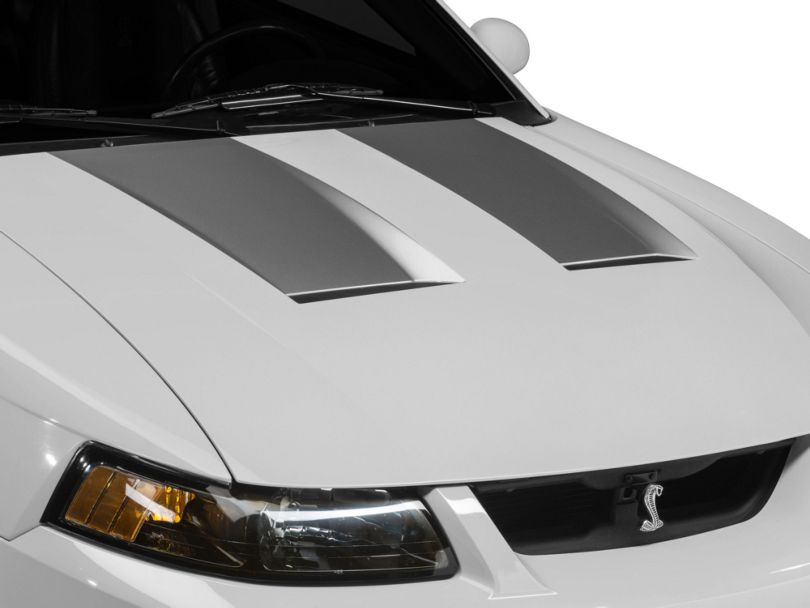 American Muscle Graphics Silver Hood Decals (03-04 Cobra)