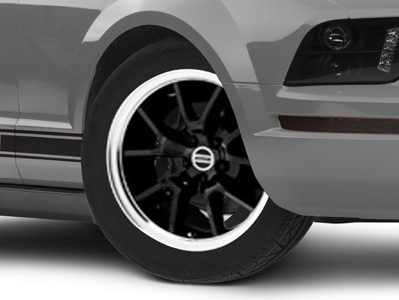 Deep Dish FR500 Style Black Wheel - 18x10 - Rear Only (05-09 All)