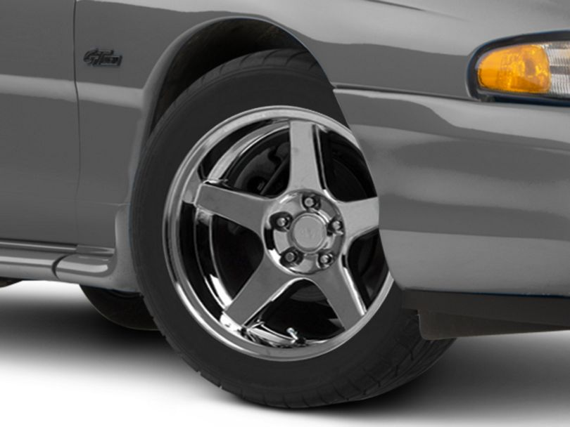 Deep Dish 2003 Cobra Style Chrome Wheel; 17x9 (94-98 All)