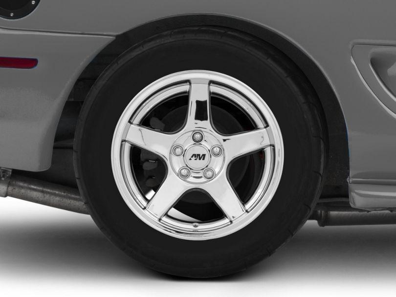 Deep Dish 2003 Cobra Style Chrome Wheel; Rear Only; 17x10.5 (94-98 All)