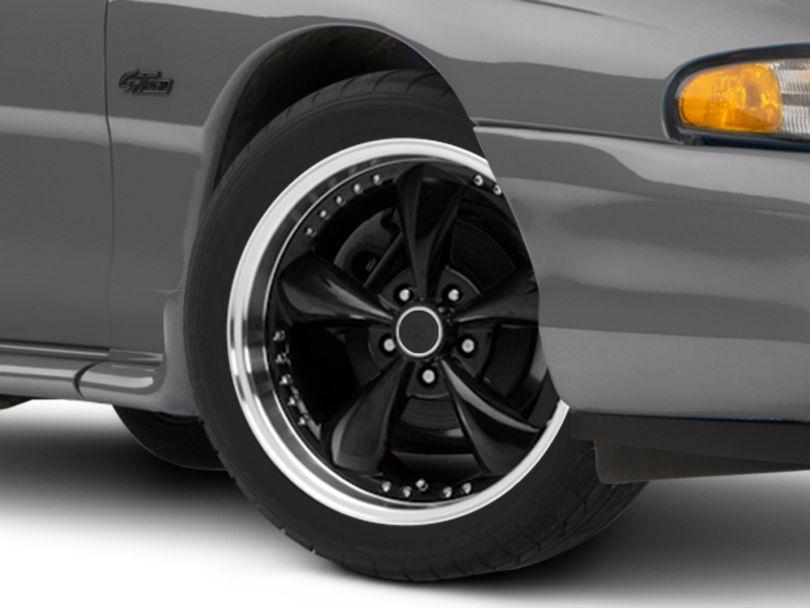 Bullitt Motorsport Black Wheel; 18x9 (94-98 All)