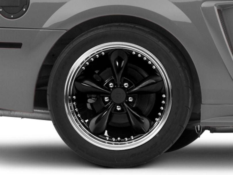 Bullitt Motorsport Black Wheel; Rear Only; 18x10 (99-04 All)