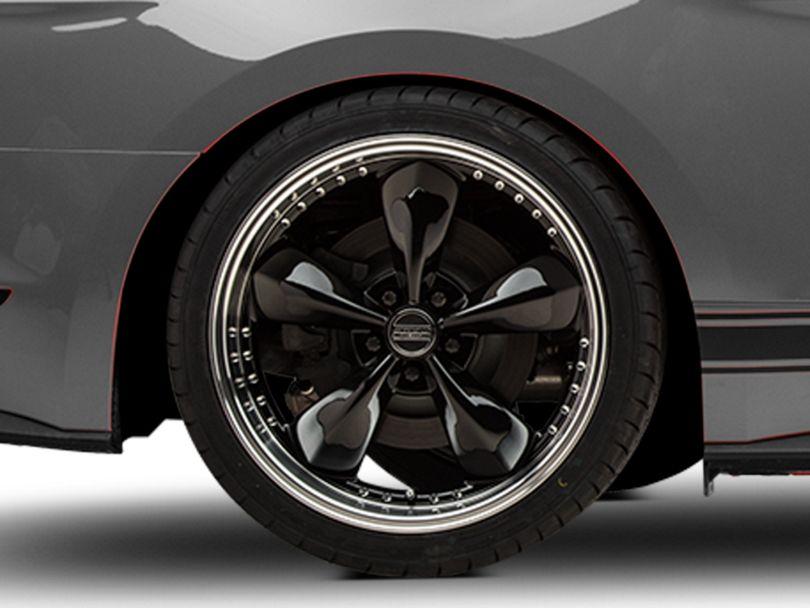 Bullitt Motorsport Black Wheel; Rear Only; 20x10 (15-20 EcoBoost, V6)
