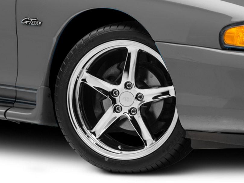 Deep Dish 1995 Cobra R Style Chrome Wheel; 18x9 (94-98 All)