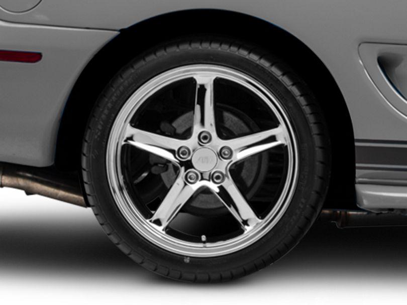 Deep Dish 1995 Cobra R Style Chrome Wheel; Rear Only; 18x10 (94-98 All)