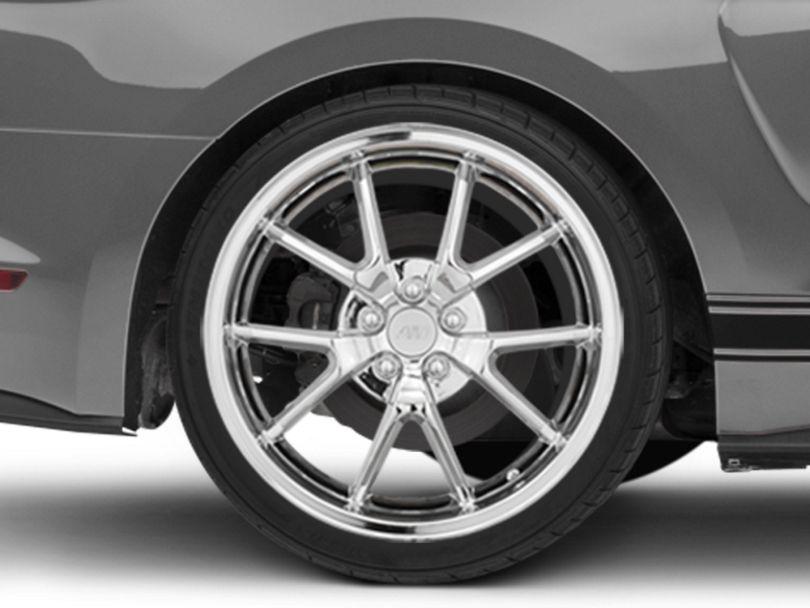 FR500 Style Chrome Wheel; Rear Only; 20x10 (15-20 GT, EcoBoost, V6)