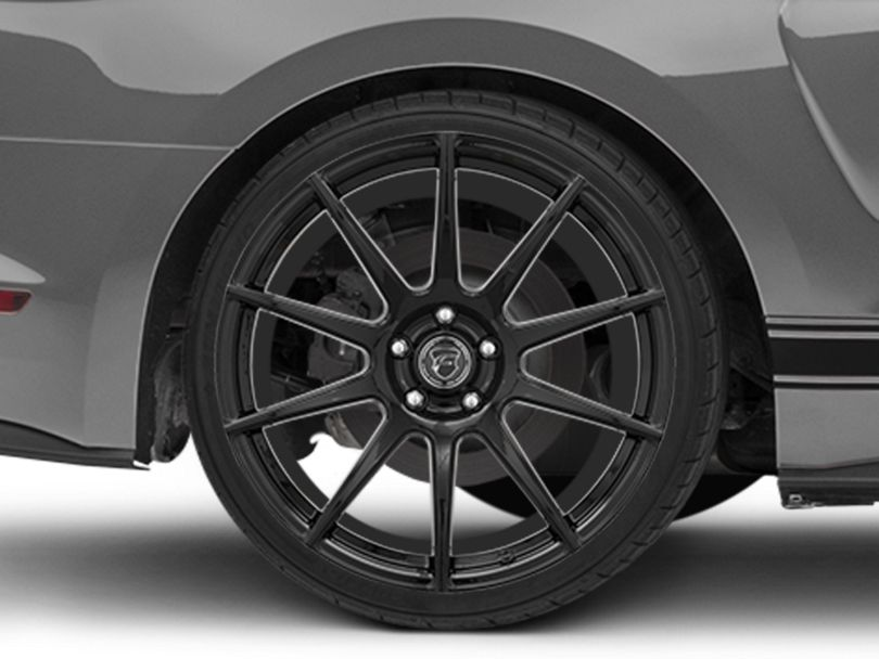 Forgestar CF10 Monoblock Piano Black Wheel; Rear Only; 20x11 (15-20 GT, EcoBoost, V6)