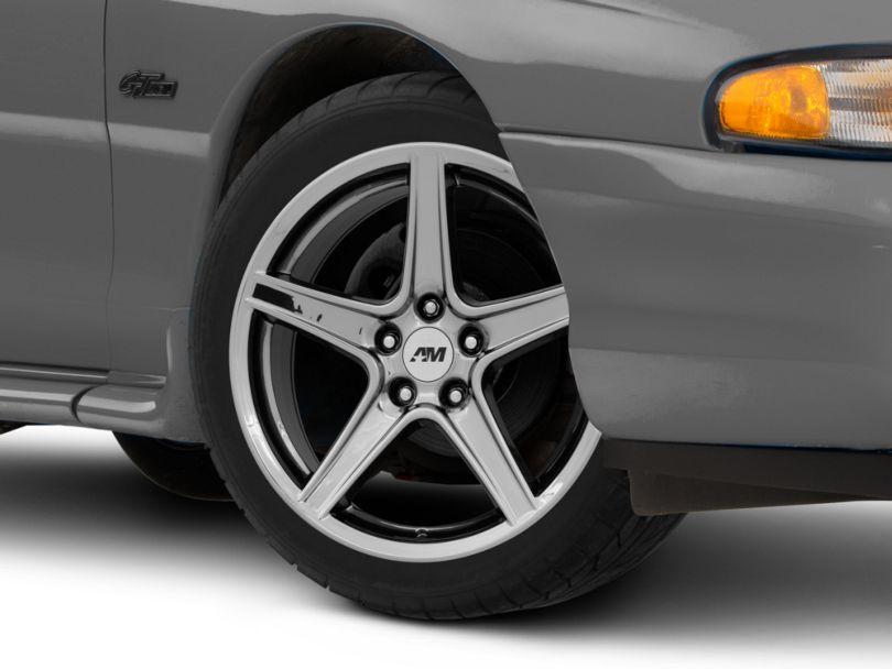 Saleen Style Black Chrome Wheel; 18x9 (94-98 All)