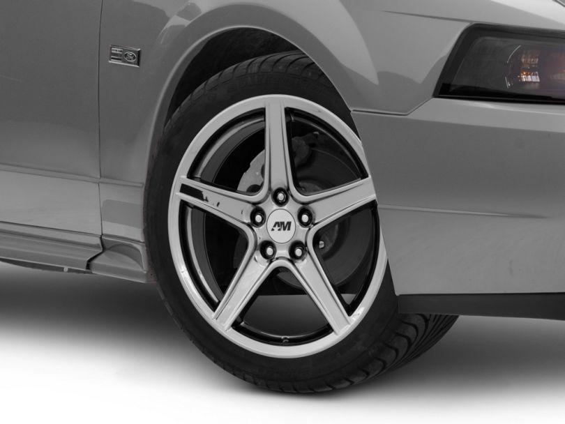 Saleen Style Black Chrome Wheel; 18x9 (99-04 All)