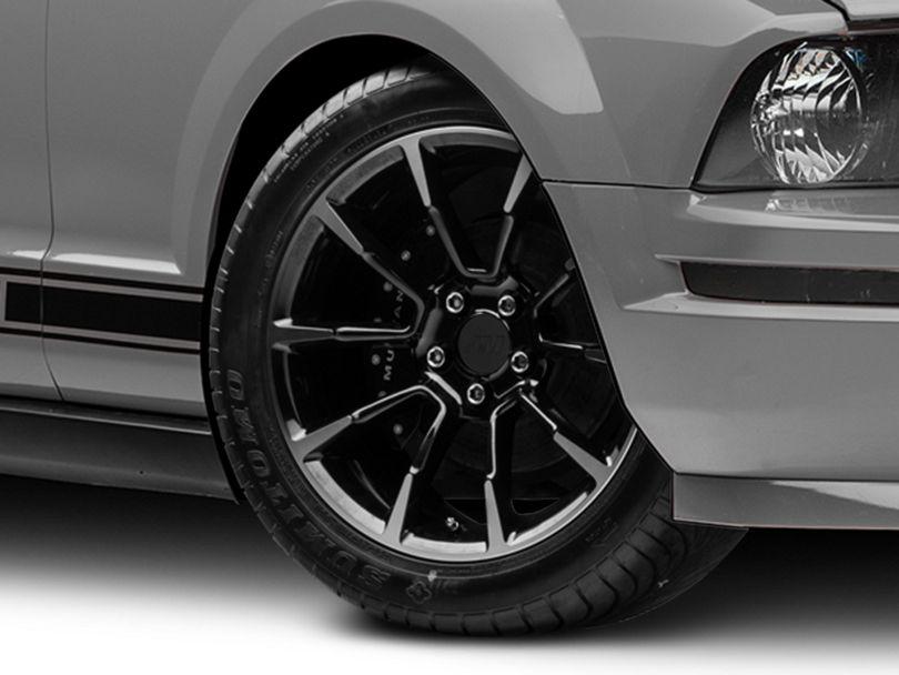 11/12 GT/CS Style Black Machined Wheel; 18x9 (05-09 GT, V6)