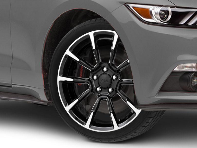 11/12 GT/CS Style Black Machined Wheel; 18x9 (15-20 EcoBoost, V6)
