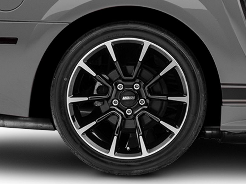 11/12 GT/CS Style Black Machined Wheel; Rear Only; 18x10 (99-04 All)
