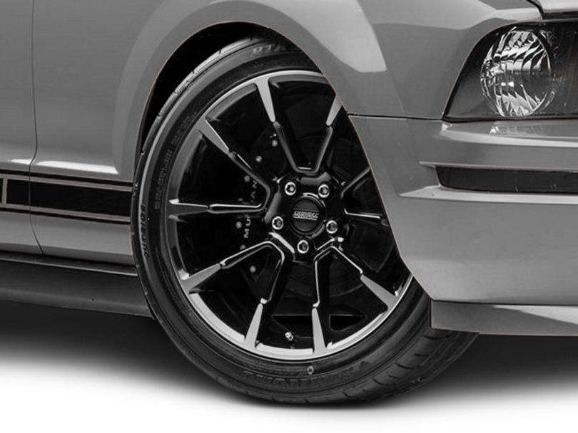 11/12 GT/CS Style Black Machined Wheel; 19x8.5 (05-09 All)