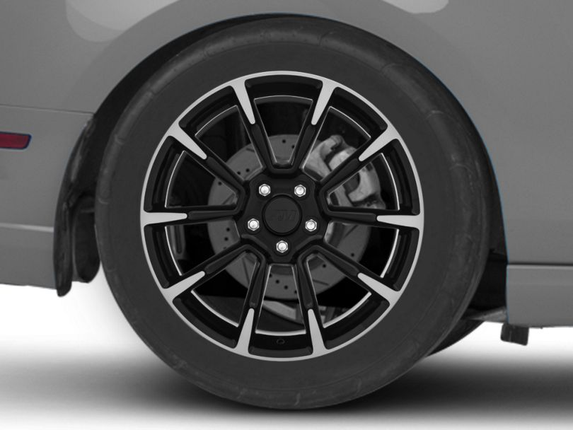 11/12 GT/CS Style Black Machined Wheel; Rear Only; 19x10 (10-14 All)