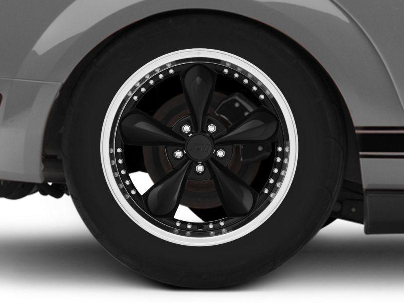 Bullitt Motorsport Black Wheel; Rear Only; 18x10 (05-09 GT, V6)