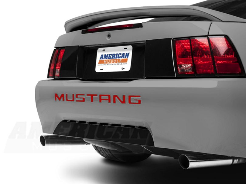 American Muscle Graphics Red Vinyl Bumper Insert Letters (99-04 GT, V6, Mach 1; 1999 Cobra)