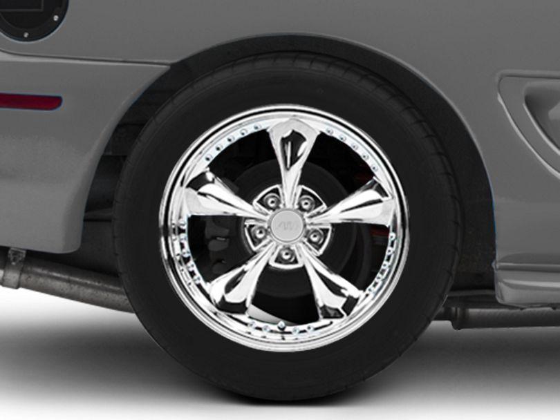 Bullitt Motorsport Chrome Wheel; Rear Only; 18x10 (94-98 All)