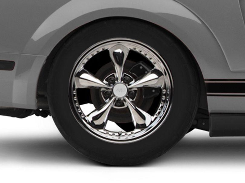 Bullitt Motorsport Chrome Wheel - 18x10 - Rear Only (05-09 GT, V6)